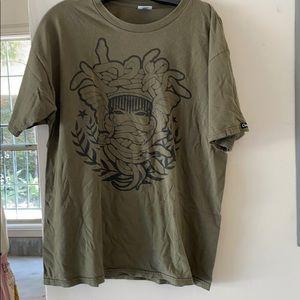 Green Crooks & Castles Medusa shirt SIZE LARGE 💚